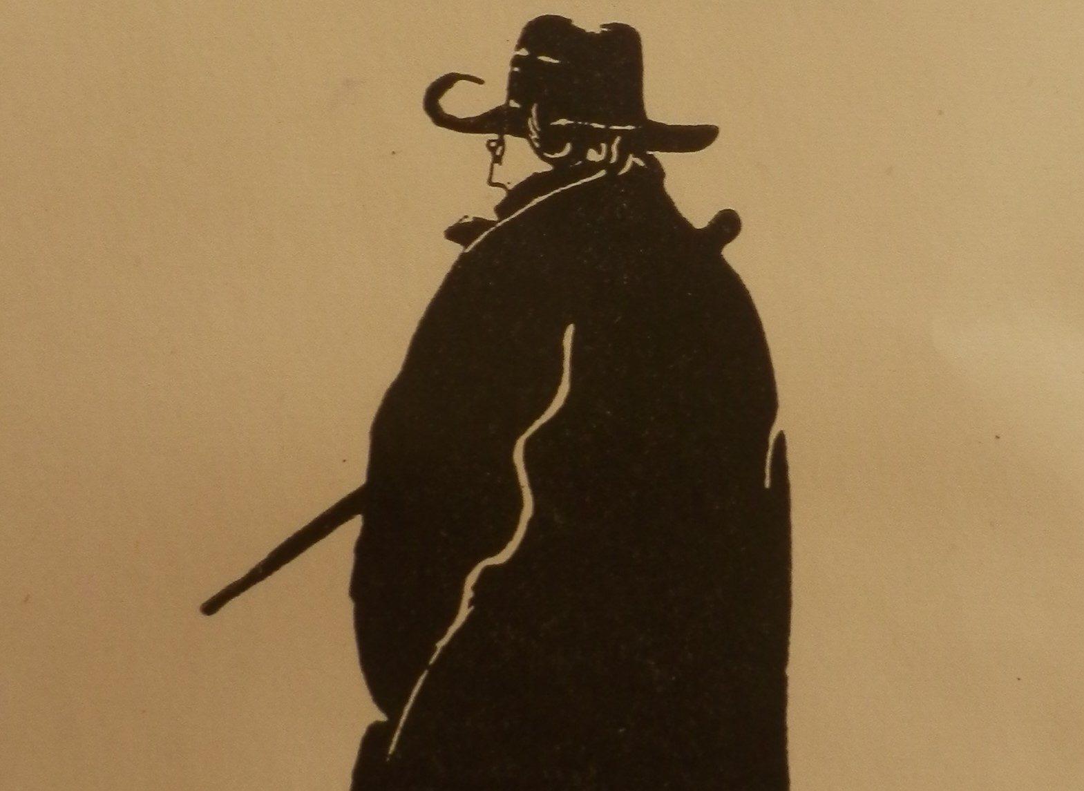 Edward Gordon Craig: Self-portrait. Woodcut engraving. Source: The Black Figures of Edward Gordon Craig (Wellingborough: Christopher Skelton, 1989). Reproduced by kind permission of the Edward Gordon Craig Estate