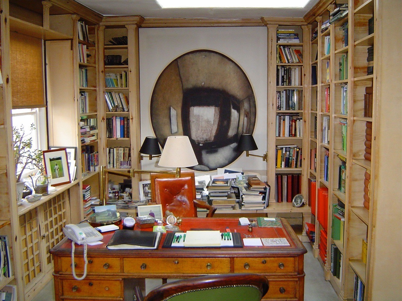 Pinter's office and writing desk